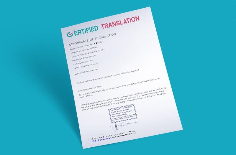 Birth Certificate Translation Services Uscis Ready 20 Per Page